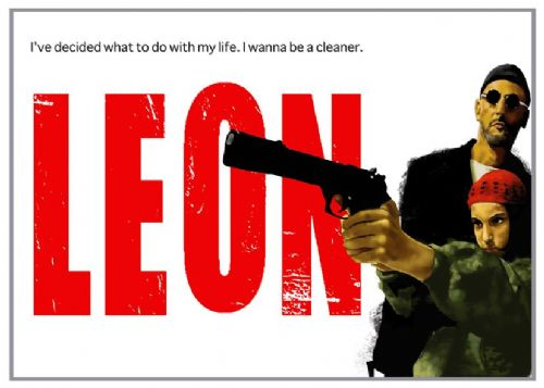 1990's Movie - LEON - LANDSCAPE canvas print - self adhesive poster - photo print